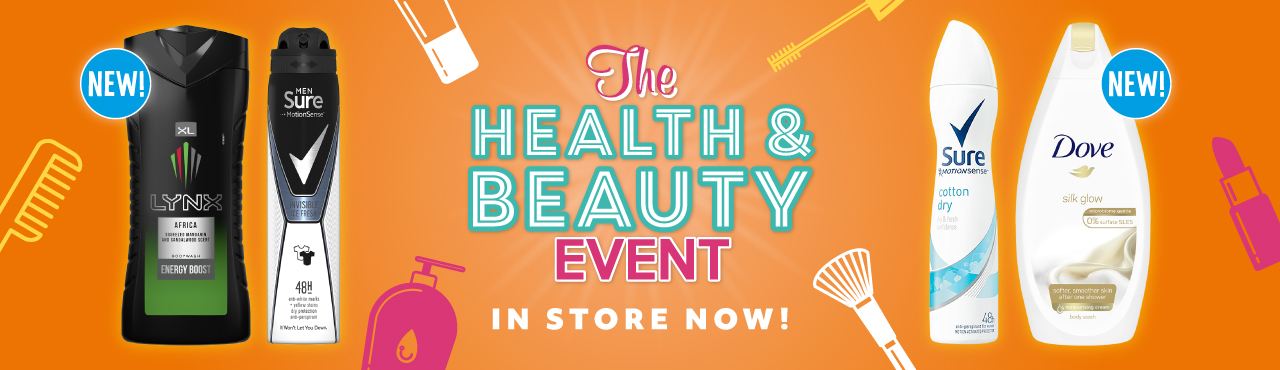 Health and Beauty Event In Store Now